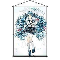 Fujitatsu タペストリー VOCALOID ボーカロイド Project DIVA 初音ミク ポスター 掛ける絵 巻物 軸物 アニメ おしゃれ 萌え (90cmX60cm)