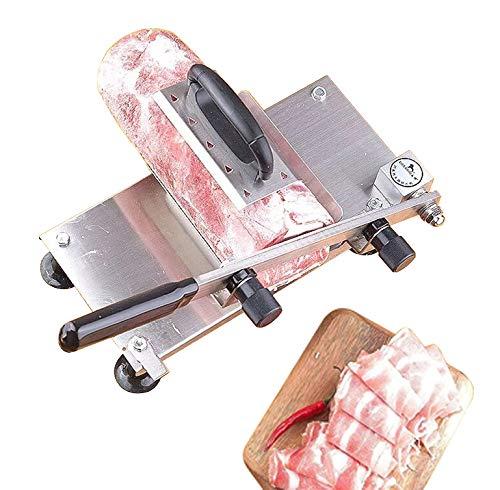 Hanchen 手動ミートスライサー 冷凍肉スライス 200mmブレード 0.3~25mmスライス オールステンレス鋼 家庭用 業務用 卓上型