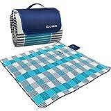 qijing 200*200cm 200*150cm大人4-6人 レジャーシート ピクニックマット ベッドマット 折りたたみ キャンプマット 防水防湿パッド 砂マット 超軽くて便利なアルミ膜マット