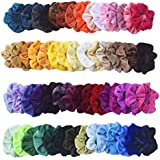 Mcupper 54Pcs Hair Scrunchies Velvet Elastic Hair Bands Scrunchy Hair Ties Ropes Scrunchie for Women Girls Hair Accessories - 54 Assorted Colors Scrunchies