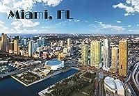 マイアミ、マイアミスカイライン、フロリダ州、ビーチ、お土産マグネット2x 3写真冷蔵庫マグネット