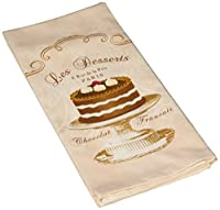 Paperproducts Design 35014 Pink Les Desserts Dessert 100-Percent Cotton Kitchen/Bar Towel by Paperproducts Design