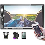Double Din Car Stereo 7 inch Touch Screen 2 Din Car Radio with Bluetooth FM, MP5 Player with USB/SD/TF/AUX Input Mirror Link