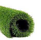 リアルな人工芝 やわらか ふわふわな手触り 長め毛足 3.5cm 幅1m×3mロール ナチュラルグリーン (1m×3m)