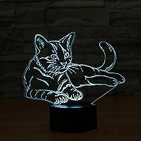 3DナイトライトスマートLEDリモートコントロールナイトライトクリエイティブUSBベッドサイドランプ,黒,Control