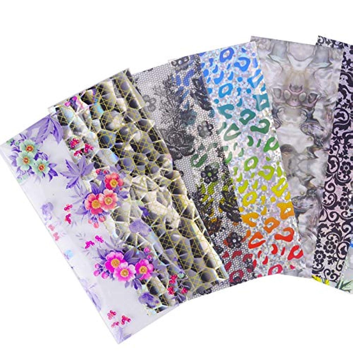 歌花弁言い直すSUKTI&XIAO ネイルステッカー 20デザインネイルアートフォイルシャイニングミックスドビューティートランスファーヒントステッカークラフトDiyユニバースデコレーション