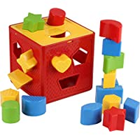 Baby Blocks Shape Sorter Toy – ChildrensブロックIncludes 18 Shapes – カラー形状認識玩具カラフルソーターキューブボックス – First Baby Toys – Toys Gift for Boys & Girls – オリジナル – by play22