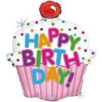 Happy Birthday Pink Cupcake Jumbo Foil Balloon ハッピーバースデーピンクのカップケーキジャンボホイルバルーン?ハロウィン?クリスマス?