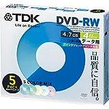 TDK データ用DVD-RW 4倍速対応 インクジェットプリンタ対応(カラーミックス) 5枚パック DRW47PMB5S