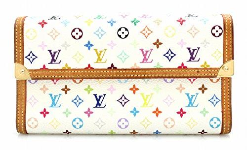 [ルイ ヴィトン] LOUIS VUITTON モノグラムマルチカラー ポルトトレゾール インターナショナル 3つ折長財布 ブロン 白 ホワイト M92659