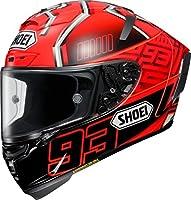 ショウエイ(SHOEI) バイクヘルメット フルフェイス X-Fourteen MARQUEZ4 (マルケス4) TC-1 RED/BLACK L (59cm) -