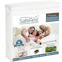 ツインエクストラロングサイズSafeRest プレミアム 低アレルギー性 ウォータープルーフ マットレス プロテクター - ビニル不使用