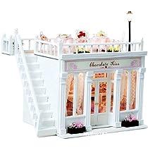 【 かわいい ポーチ 付】 kkproject 手作り ドールハウス オシャレ な 白い 洋菓子店