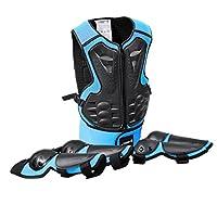 Dolity 子供向け 手首/リスト/腕ガード 肘パッド 膝ロテクター スキー/スケート/ボード/サイクリング用 全3色 - 青