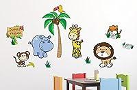 Jungle Friends Wall Decal Sticker Set by Wallmonkeys Peel and Stick Graphics (48 in W x 32 in H) WM157323 [並行輸入品]