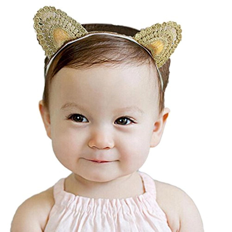dzt1968 ®ベビーガール猫耳ターバンヘッドバンドヘアバンドハードウェア