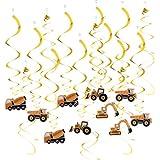 KESOTO 約30個 渦巻き ぶら下げ装飾 かわいい トラクター車