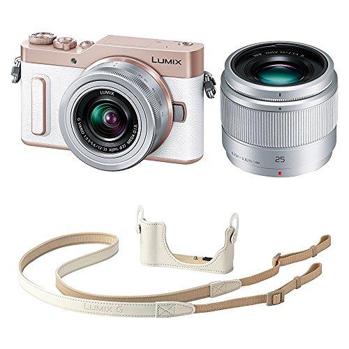 Panasonic ミラーレス一眼カメラ ルミックス GF90 ダブルレンズキット ホワイト DC-GF90W-W + ボディケースストラップキット ホワイト DMW-BCSK8-W セット