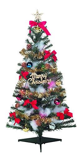 クリスマスツリー セット 90cm スタンダード 電飾付き ...