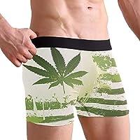 MASSIKOA Grunge Hemp Leaves Marijuana Underwear Men's Boxer Brief
