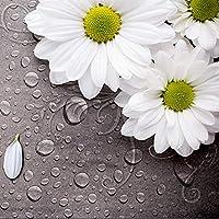 ヨーロッパスタイルのレトロな白い花の水滴3D壁画壁紙リビングルームのベッドサイドの装飾の背景の壁の壁紙-130*80cm
