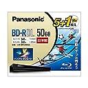 パナソニック 2倍速ブルーレイディスク片面2層50GB(追記)5枚 1枚 LM-BR50W6S