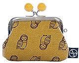 五色帆布堂 動物シリーズ 2.5角小銭入れ 全6柄 日本製 がま口 (フクロウ)