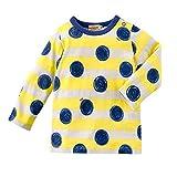 MIKIHOUSE(ミキハウス)働く車&ボーダー&手描き風水玉 長袖Tシャツ 100cm,黄