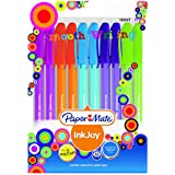 Papermate Ink Joy 100 Ballpoint Pen, Fashion Assorted, Pack Of 10