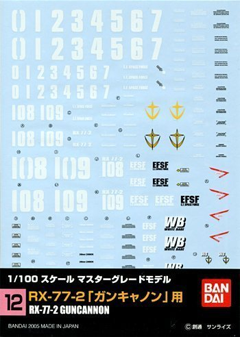 GD-07 1 100 Master Grade Seed Multi-Use Decal Assortment plamo Japan From japan