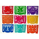 Large Papel Picado Banner, Mexican Party Decorations, 60 feet Long, Authentically Mexican