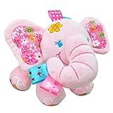 Happy Cherry 可愛い ふわふわ ベビーカー用おもちゃ 赤ちゃんのおもちゃ 装飾おもちゃ リンリンサル クリスマス ギフト 癒し エレファント人形 ピンク