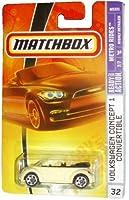 Mattel Matchbox 2007 MBX Metro Rides 1:64 Scale Die Cast Metal Car # 32 - Pale Yellow Coupe Volkswagen Concept 1