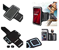 DFV mobile - Armband Professional Cover Neoprene Waterproof Wraparound Sport with Buckle for => Motorola Moto X 2014 8GB > Black