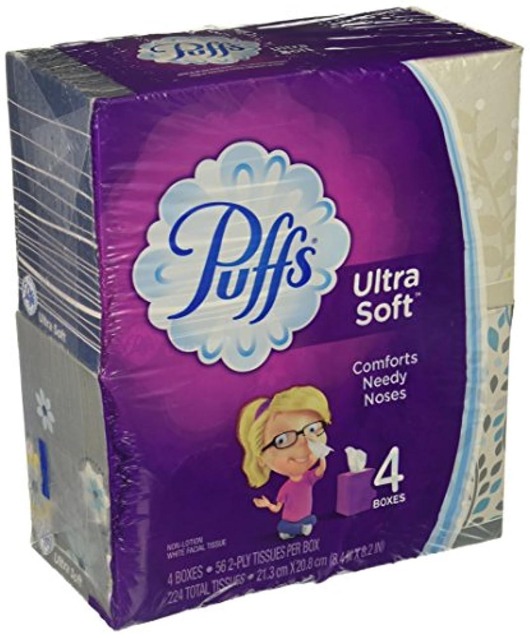 そのワックス司法Puffs ウルトラソフト&強力フェイシャルティッシュ 4 pack (224 tissues total) WMT-17173945