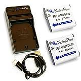 Nucleus Power オリンパスLi-50B/ペンタックスD-Li92/リコーDB-100対応 バッテリー2個+USB充電器セット 互換バッテリー BI-2S-O(50B)