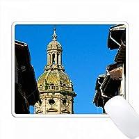 スペイン、プエンテ・ラ・レイナ、サンチャゴ・エル・メイヨー教会のベルタワー。 PC Mouse Pad パソコン マウスパッド