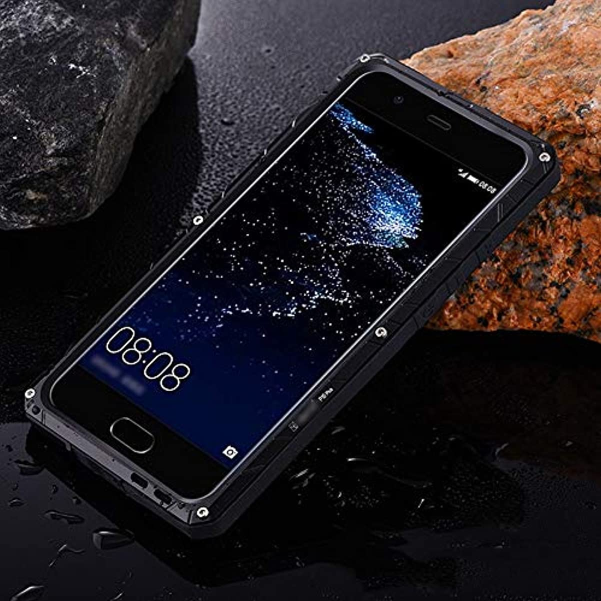使い込む役に立つボイラーTonglilili 携帯電話ケース、Huawei P20、P20 Pro、P10 Plus、Mate10、Mate10 Pro、Mate9用の3つのアンチシェル電話ケース (Color : 黒, Edition : Mate10)