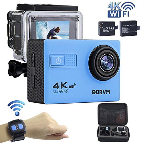 4K wifi アクションカメラ,リモコン付き 防水30m ...