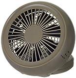 ドウシシャ 4電源(AC,USB,乾電池,充電池) 丸型 10cm コンパクトデスク扇風機 風量2段切替機能付 ブラウン NPM-1083B(BR)