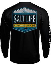 [ソルトライフ] メンズ シャツ Salt Life Men's Beeracuda Long Sleeve Sh [並行輸入品]