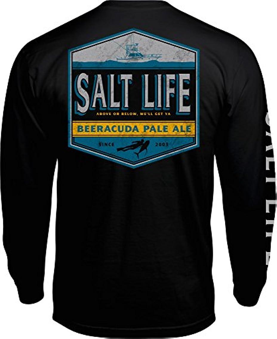 職業かもめトランスペアレント[ソルトライフ] メンズ シャツ Salt Life Men's Beeracuda Long Sleeve Sh [並行輸入品]