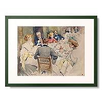 Beraud, Jean 「An Elegant Dinner Party.」 額装アート作品