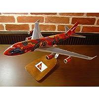 1/144 B747-400 QFA (Wunala Dreaming/ボーイング) カンタス航空 レア! 木製飛行機模型 ソリッドモデル