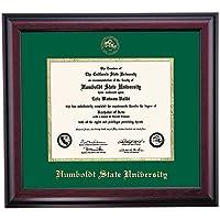Humboldt状態Lumberjacks卒業証書フレームグリーンゴールドエンボスマットシール