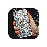 クリスタルリンググリップ付きラグジュアリーDIYブリングダイヤモンド電話ケース、iPhone Xs Max XR X 8 7 6 6S Plus 5 5S SEのために,白,Foriphone66S
