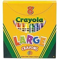 Crayola 8ct Large Crayons Lift Lid Box [並行輸入品]
