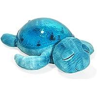 Cloud B クラウドビー アクアタートル タートル カメ Cloud b Tranquil Turtle Night Light, Ocean Melody sleeping doll [並行輸入品] Blue