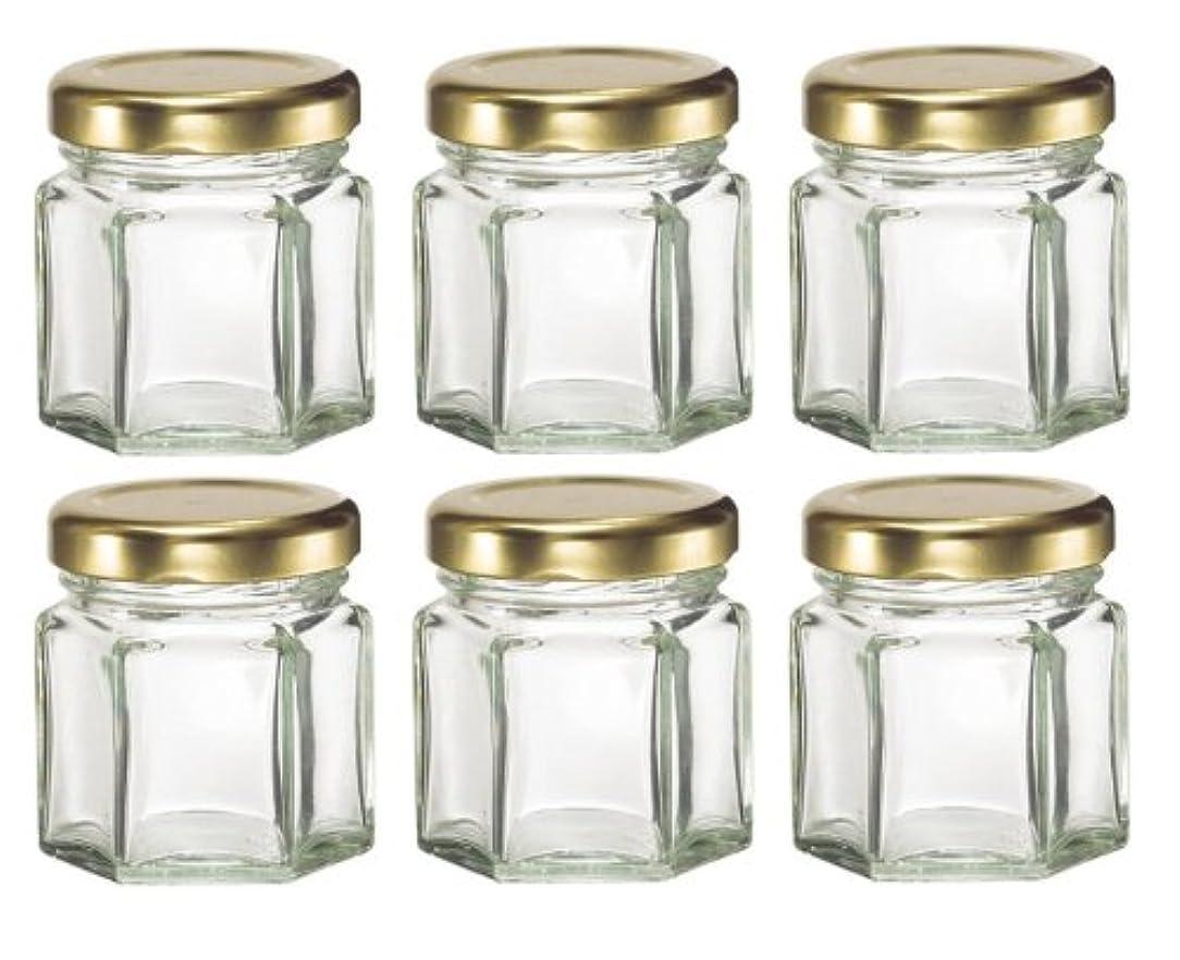 公然と図トレーダー1-1 / 2など、キャンドル、蜂蜜のためlids-オンス(1.5オンス)HEX 6六角ガラスJars-