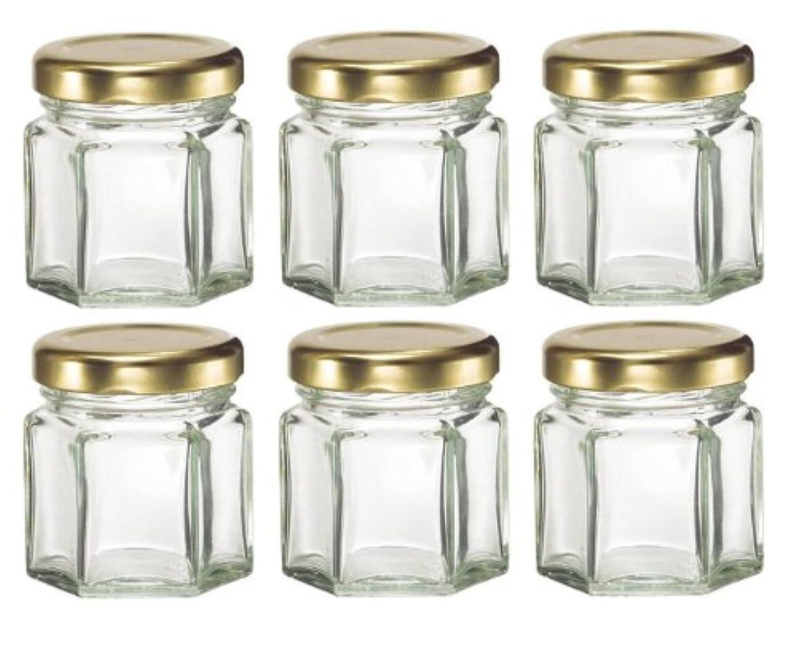 練る石化するドレス1-1 / 2など、キャンドル、蜂蜜のためlids-オンス(1.5オンス)HEX 6六角ガラスJars-